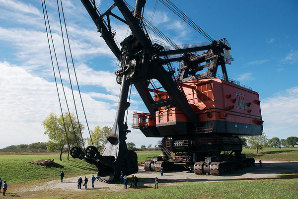 Visitors tour Big Brutus on Tuesday in West Mineral.<br /> Globe   Roger Nomer