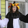 """Marla Fae Mosby (played by Shannon Wendt) returns from a Renaissance Festival as a grumpy jester during rehearsal for the upcoming Stone's Throw Dinner Theatre production of """"The Savannah Sipping Society,"""" which opens Friday at the Stone's Throw Dinner Theatre.<br /> Globe 