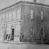 "This photo shows the Baxter Bank in 1882.<br /> Photo from ""A Pictorial History of Baxter Springs, Kansas"" published by Baxter Springs Historical Society"