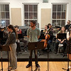 "Camryn Burniston, Madelyn Monaghan, Jack Boyd, Mili Diaz, and the band rehearse ""I Won't Lose You Here"", a Song from the show appearing in Wednesday's concert. (Angelica Gorga)"