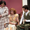 "From the left: Joplin High School students Emily Sanders, Maggie Thompson and Del Stanley.rehearse their roles on Tuesday night for the Upcoming JHS production of ""The Game's Afoot.""<br /> Globe 
