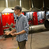 Taylor Yeager, welding instructor at Crowder College, gives a tour of the welding facility at the Advanced Training and Technology Center on Friday during the annual economic development tour.<br /> Globe | Roger Nomer