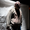 A zombie stands near the entrance of a mencing room in the Escape: Zombie City experience on Thursday in downtown Joplin.<br /> Globe | Laurie Sisk
