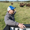 Mitch Albright talks about buffalo owned by the Quapaw Nation on Monday near Downstream Casino.<br /> Globe | Roger Nomer