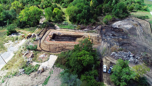 Aerial drone shots of the former Weir City Zinc Works site, located west of North Broadway Street in Pittsburg. <br /> <br /> Photo credit to:  AV8 Droneworx