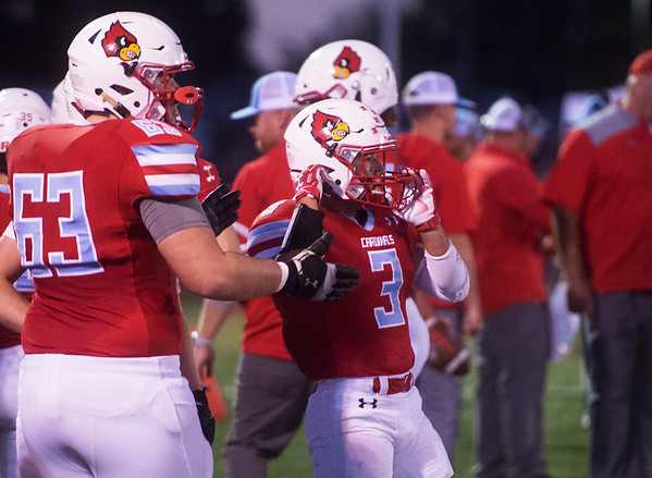 Webb City's Sergio Perez (3) prepares to take the field against Ozark during Friday's game in Webb City.<br /> Globe | Roger Nomer