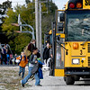 Granby students board buses in preparation for another three-day weekend. The district is reviewing the success of their four-day school week after two years of implementation.<br /> Globe | Laurie Sisk