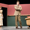 "From the left: Joplin High School students Maggie Thompson and Jakob Butler rehearse their roles on Tuesday night for the Upcoming JHS production of ""The Game's Afoot.""<br /> Globe 