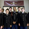 Joplin High School JROTC Cadets stand beneath a banner comemmorating JROTC's first year at JHS on Thursday at JHS. The JHS JROTC will be celebrating its 100th Anniversary this spring.<br /> Globe | Laurie Sisk