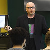 Don Simon, President of Simon Business Consulting, discusses the importance of weighing options for contracts during the Art as Business Symposium on Wednesday at Missouri Southern's Fieldhouse. The event featured a variety of speakers aimed at helping entrepreneurial artists navigate the map of transforming their talent into a business.<br /> Globe | Laurie Sisk