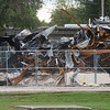 The former Liberal High School was destroyed by a fire, but firefighters were able to save the elementary school located next door.<br /> Globe | Roger Nomer