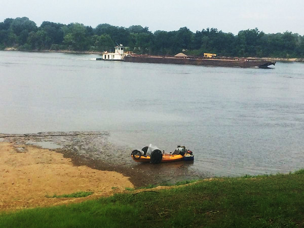 Randy Ridings took his quadyak on a trip along the Arkansas River earlier this year.<br /> Photo Courtesy Randy Ridings