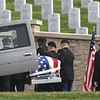 Pall bearers from the 101st Brigade Support Battalion, 1st Armored Brigade Combat Team from Fort Riley, transport a casket containing the remains of WWII soldier Leslie Shankles, of Arcadia, for burial with full military honors at the Fort Scott National Cemetery on Wednesday.<br /> Globe | Laurie SIsk