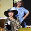 From the left: Fairy Jane (portrayed by Jennifer Johnson) and Martha Ann (Christa Hailey ) rehearse their roles  for the Stained Glass Theatre Joplin production of Southern Fried Funeral on Tuesday night at SGTJ.<br /> Globe | Laurie Sisk