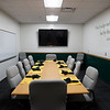 A new conference room is open for students on Tuesday during an open house for the Gipson Center for Health Care Leadership.<br /> Globe | Roger Nomer
