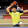 David Chu, of Kansas City, returns a volley during the Joplin Table Tennis Club's 2019 Fall Open Table Tennis Championship on Saturday at Memorial Hall. Twenty five athletes competed for $1,300 in prize money in six classes during the two-day tournament - a USA Table Tennis sanctioned event.<br /> Globe | Laurie Sisk