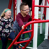 Alexander Razo, kindergarten, and Emma Holstrom, third grade, play on the Power of Play playground in Carl Junction on Thursday.<br /> Globe | Roger Nomer