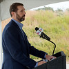 Scott Bennett, director of the Arkansas Department of Transportation, talks during Tuesday's groundbreaking of the Bella Vista Bypass near Gravette.<br /> Globe | Roger Nomer