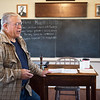 Joe Yokley talks about the history of the Shiloh Schoolhouse in Liberal on Wednesday.<br /> Globe | Roger Nomer