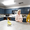 From the left: RISE Special Education Coordinator Tracie Newberry and RISE Assistant Director Jessica Crager stand inside the large, industrial kitchen at the new RISE school during an open house on Thursday in Columbus.<br /> Globe | Laurie Sisk