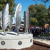 The Centennial Tribal Monument was unveiled at NEO University on Indigenous Peoples' Day on Monday.<br /> Globe | Roger Nomer