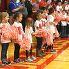 Liberal Elementary students gather during a recognition ceremony at Liberal High School for firefighters who helped battle the Liberal Elementary School fire recently.<br /> Globe | Laurie Sisk