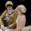 "Aubrey Chrisenbery, junior, left, and Maggie Thompson, senior, rehearse a scene from ""The Great Gatsby"" on Tuesday at Joplin High School.<br /> Globe 
