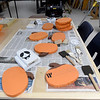 Halloween decorations created by RISE students in Columbus sit on display during open house at the school on Thursday. Some of Life and Career Skills  teaxcher Paul Hamilton's students have gone on to careers with Crossland Construction, the City of Pittsburg and more, while others have chosen to continue their education in vocational programs at area community colleges.  <br /> Globe | Laurie Sisk