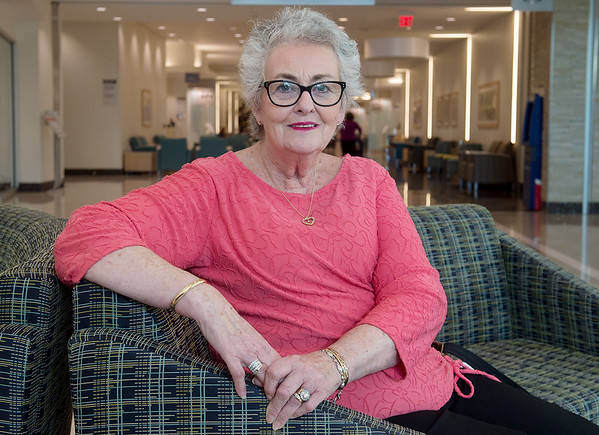 Joy Halseth credits her doctors and nurses for helping her through Breast Cancer.<br /> Globe | Roger Nomer