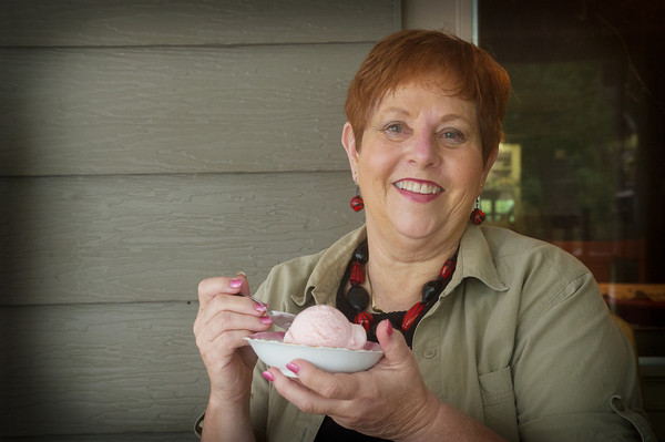 "Globe/Roger Nomer<br /> Kathy Gronau is the author of ""Eat Ice Cream for Supper,"" which chronicles her and her husband's fights with cancer."
