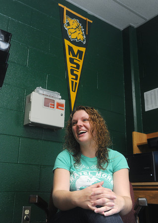 Globe/Roger Nomer<br /> Emma Gustausson, a Missouri Southern junior from Sweden, talks about her decision to attend MSSU as an international student.