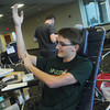 Globe/Roger Nomer<br /> Joshua McClelland, a Missouri Southern freshman from Eureka Springs, finishes donating blood for the first time during a blood drive by the Community Blood Center of the Ozarks at Billingsly Student Center on Tuesday.
