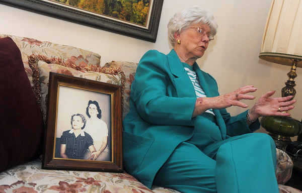Globe/Roger Nomer<br /> Jo Irick talks about the disappearance of her mother Nora Duncan, shown at left in the photo, during an interview on Friday.
