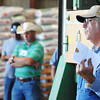 Curtis Schallert, co-owner of Schallert Seed, speaks about his family's farm during Congressman Billy Long's agriculture tour Friday afternoon, Sept. 6, 2013, at Schallert Seed in Purdy.<br /> Globe | T. Rob Brown