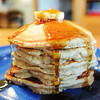 A tall stack of apple cinnamon pancakes made by Andra Stefanoni.<br /> Globe | T. Rob Brown
