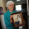 Globe/Roger Nomer<br /> Jo Irick displays a photo of her and her mother Nora Duncan, shown at left on the photo, as she talks about the potential solution to mystery of her mother's disappearance.