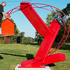 Globe/Roger Nomer<br /> Jorge Leyva assembles a sculpture at his studio on Thursday.