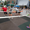 Missouri Southern students engage in a spirited game of giant foosball during MSSU Night at Third Thursday in downtown Joplin.<br /> Globe | Laurie Sisk