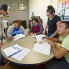 Crowder College students study together in the College Assitance Migrant Program lab on Wednesday at Crowder College.<br /> Globe | Laurie Sisk
