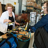 Globe/Roger Nomer<br /> Kandis Moser, with Bilco Safety Products in Sinking Spring, Penn., talks with Sherry Johnson, a business services specialist with Missouri American Water, about a bonding system on Tuesday at a safety fair at the Missouri American Water Robert Clark Service Center. The fair featured safety equipment vendors and demonstrations for Missouri American Water employees and its community partners.