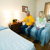 Troy and Tammy Jordan, of St. Joseph, check out the radio in Boot's Court room 12, which plays 1940s and 1950s music. Interiors of the rooms at Boot's are decorated in a late-1940s design.<br /> Globe | Laurie Sisk