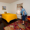 Owner Debbie Real, of Boot's Court Motel in Carthage, shows off one of the rooms at the motel. Boot's Court is a staple attraction for tourists on Route 66. The interior of the rooms are decorated in a late-1940s design.<br /> Globe | Laurie Sisk