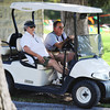 Globe/T. Rob Brown<br /> Jack and Carol Capron, of Webb City, take advantage of a shady area as they wait in the heat to see their granddaughter Natalie Capron, also of Webb City, compete in the Carthage Invitational cross country meet at Carthage Municipal Golf Course Thursday afternoon, Sept. 6, 2012.