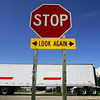 Globe/Roger Nomer<br /> A semi rolls through the intersection of US 69 and 640th Avenue in Arma, Kan., on Friday morning. The intersection is one of the most dangerous along the US Highway, something KDOT officials hope to solve through redesign.