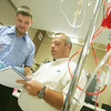 Globe/Roger Nomer<br /> Tony Surratt gets an evaluation from instructor Ike Isenhower during class at Crowder on Thursday.
