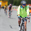 Globe/T. Rob Brown<br /> Allison Hubbard, of Springfield, leads a small pack of bicycles as they enter the main Schifferdecker Athletic Complex parking lot Saturday afternoon, Sept. 8, 2012, during the Multiple Sclerosis Bicycle Run from Clever to Joplin.