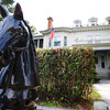 Globe/T. Rob Brown<br /> A decorative horse stands before a home in the 400 block of Sergeant Tuesday afternoon, Sept. 25, 2012, in the Murphysburg Residential Historic District.