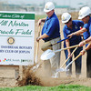 Globe/T. Rob Brown<br /> Officials hold the groundbreaking Thursday morning, Sept. 13, 2012, for the Will Norton Miracle Field at the Joplin Athletic Complex. The field will be specially designed for children with disabilities and is sponsored through the Joplin Rotary Tornado Task Force.