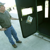 Globe/Roger Nomer<br /> Danny Little talks about construction of Redneck Blinds during an interview on Tuesday.