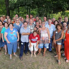Members of the Joplin Parkwood High Class of 1979 pose for a class photo during their 35th reunion on Saturday near Shoal Creek.<br /> Courtesy | Laurie Sisk